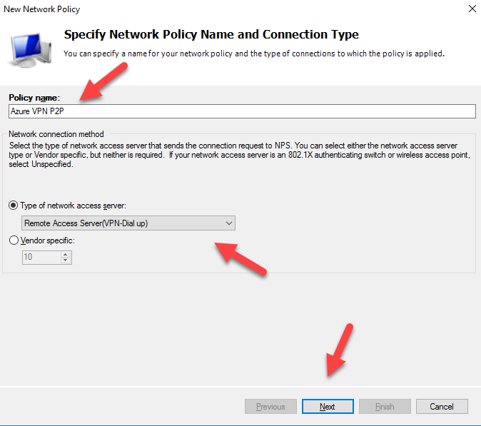 Configurando o NPS Radius para VPN Point to Site